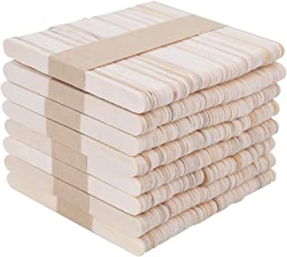 Art Crafts Sticks, Rounded Edges Wooden Sticks, for Making Ice Cream Art Craft Project Kitchen