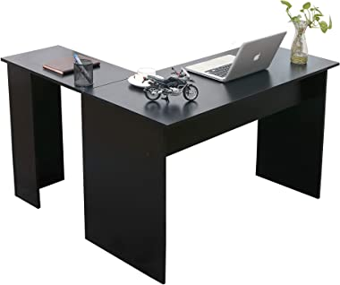 Ivinta Corner Desk Modern L Shaped Desk Computer Table Simplest Gaming Desk Writing Desk Workstation for Home Office Small Sp