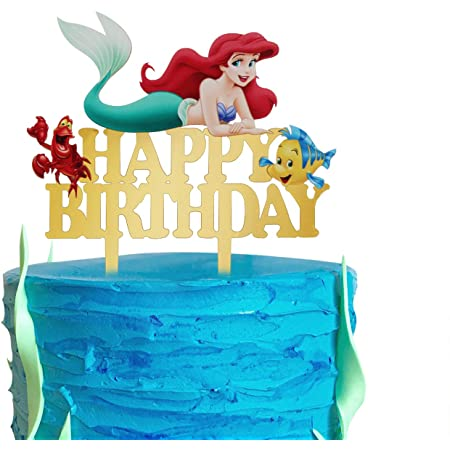 Mermaid decorations Princess cake topper princess Little Mermaid fondant cake topper Mermaid Mermaid Cake Topper