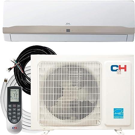 Cooper & Hunter 9000 BTU 115V Single Zone Ductless Air Conditioner Mini Split Heat Pump 23 SEER Full Set with Installation Kit