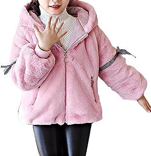 ranrann Enfant Fille Veste à Capuche Peluche Ours Veste Polaire Hiver Manteau Dessin Animé Sweat Pull Capuche avec Oreille...