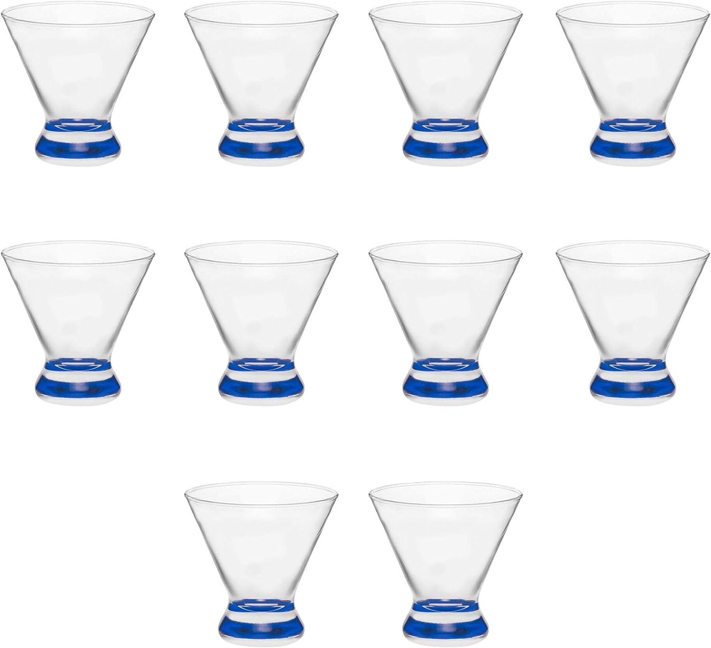 10 Libbey Martini Glasses Set 8.25 oz. Topics on TV Stemless In stock Cosmopolitan -
