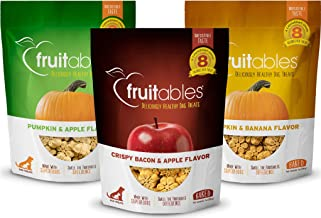 product image for Fruitables Crunchy Baked All Natural Low Calorie Healthy Wheat Free Dog Treats 7 Ounces, 3 Flavor Variety Pack