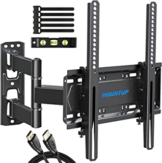 MOUNTUP TV Wall Mount, Single Stud TV Mount Swivel and Tilt Full Motion for 26-55 Inch Flat Screen/Curved TVs, Universal A...