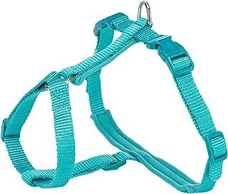حزام صدر للقطط مزود بمقود من تريكسي، مقاس XL، 33-57 سم/13 ملم، 1.20 متر، ازرق