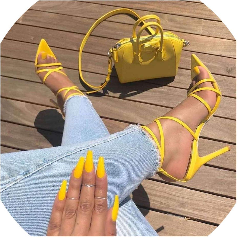Boom-moon Sandals Ladies Sandals Summer Pointed Fish Mouth Stilettos
