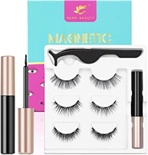 2020 Upgraded Magnetic Eyelashes and Eyeliner Kit, Magnetic Eyeliner with Natural Look Reusable Premium Magnetic Eyelashes...