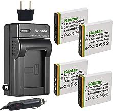 Kastar Battery (4-Pack) and Charger Kit for Kodak KLIC-7001 and Kodak EasyShare M320, M340, M341, M753 Zoom, M763, M853 Zo...