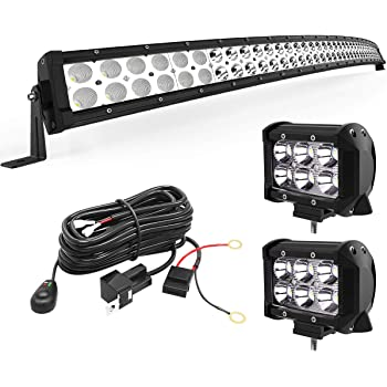Updated Chipset Spot Flood Combo Beam Off Road Driving Light Super Bright for Jeep Bumper Trucks Boats ATV LED Light Bar AUTOSAVER88 50 inch Led Work Light 480W 9D 48000LM Curved 3-Yr Warranty