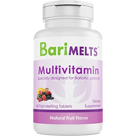 BariMelts Multivitamin, Dissolvable Bariatric Vitamins, Natural Fruit Flavor, 60 Fast Melting Tablets