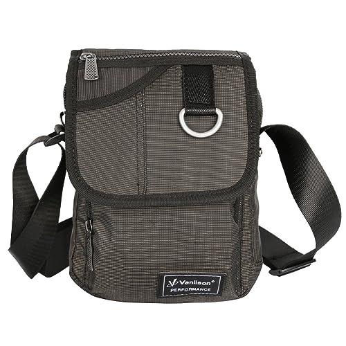 e919328aa3c7 Vanlison Crossbody Small Shoulder Bag Messenger Sling Pack Satchel  Lightweight for iPad Kindle