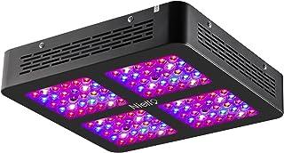 Niello Lente Óptica Dual Serie 600W. Luces LED para el crecimiento de las plantas. Espectro completo para plantas de interior para conseguir crecimiento y floración (dos interruptores,12-bandas)