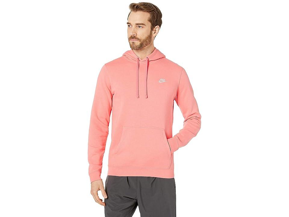 Nike Club Fleece Pullover Hoodie (Pink Gaze/Pink Gaze/White) Men