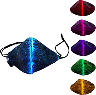 7 Color change Lights LED Light up Face Mask USB...
