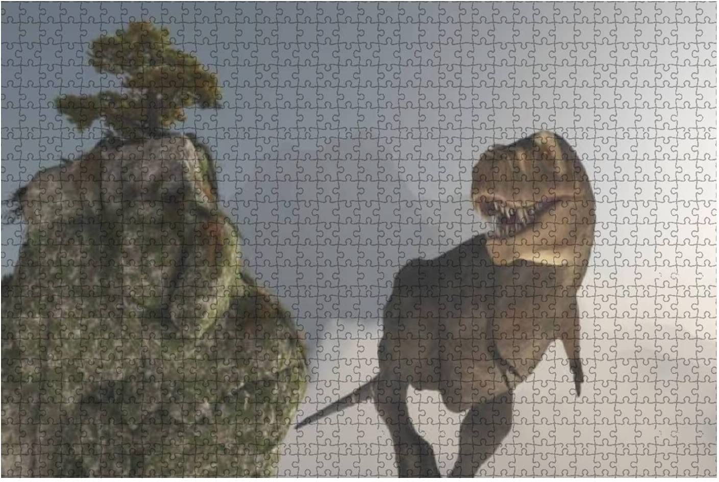 Jigsaw Puzzle Tyrannosaurus Rex in Moun Surrounded Jungle Alternative dealer The Max 45% OFF by