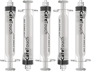Care Touch 10 mL Syringe with Luer Lock Tip | 10 Syringes with No Needle | Great for Medicine, Feeding Tubes, and Home Care
