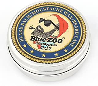 BlueZOO Beard Balm Leave-in Conditioner for Men Care Made with Natural and Organic Ingredients-2OZ Eucalyptus Scent