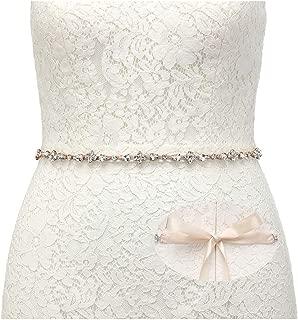 Rhinestone Bridal Belt Bridesmaid Sash Crystal Wedding Belt Headband Women Dress Accessories