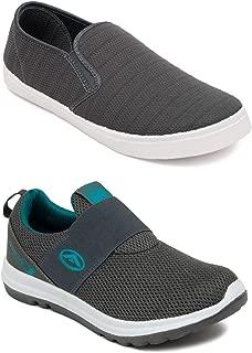 ASIAN Men's Denim Walking Shoes Casual Shoes (UK-9) Grey