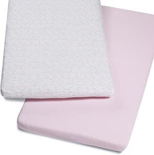 2x Fitted Sheets Compatible with Snuzpod Bedside Crib 100 /% Cotton