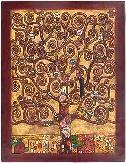 Cuadro Decorativo en piel labrada a mano Árbol de la Vida Klimt