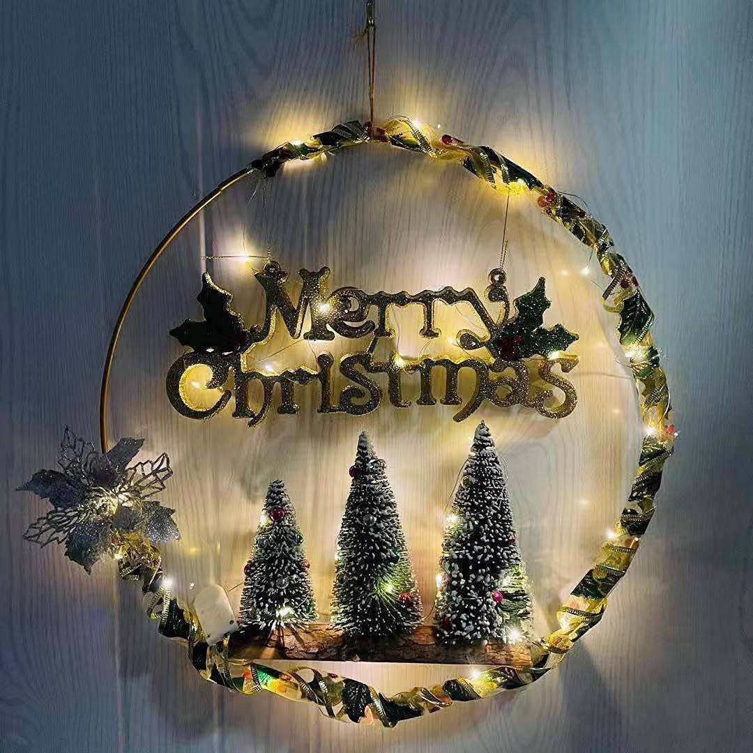 Christmas Ranking TOP12 Decorations Simulation Wreath Tree SEAL limited product D
