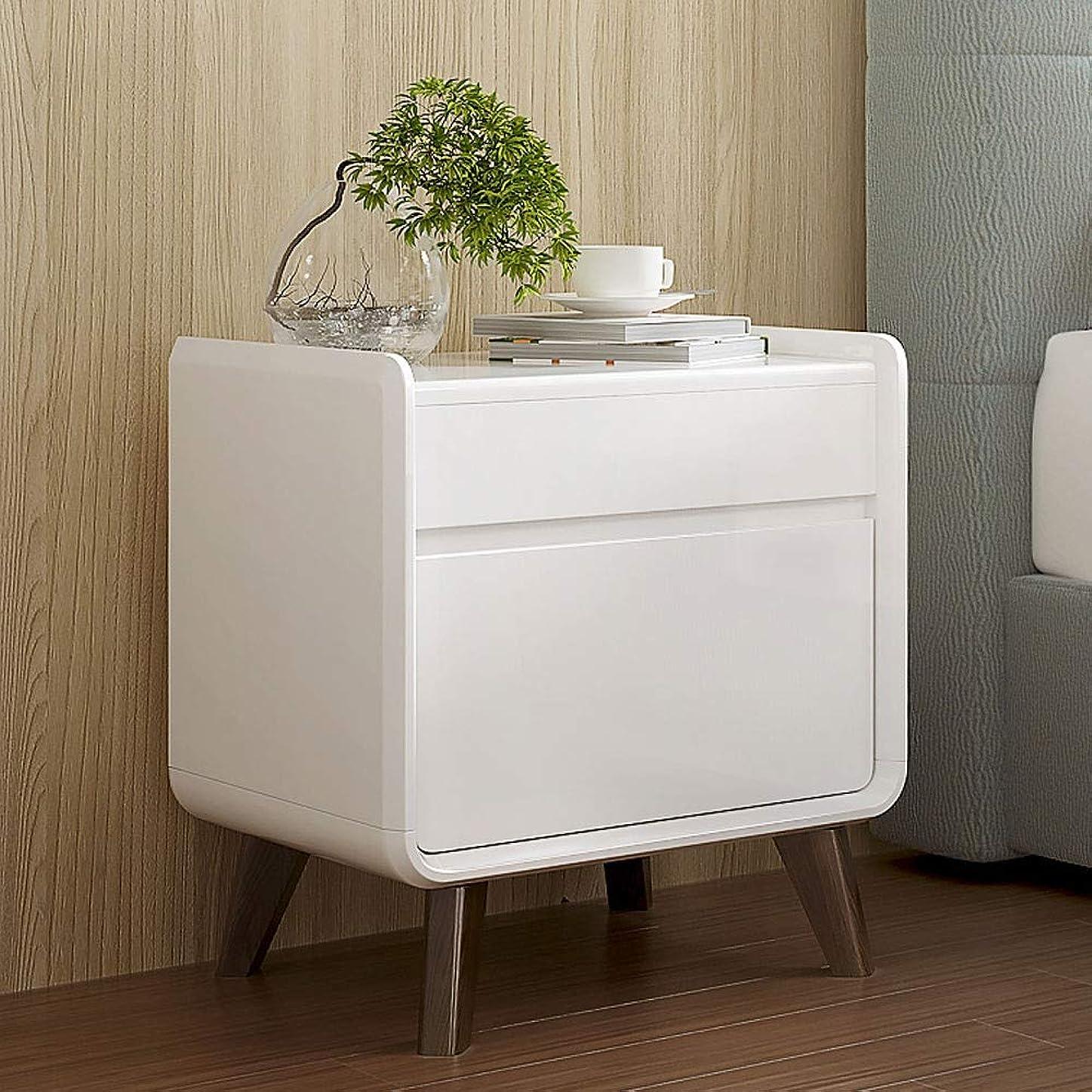 寛大な茎掘るベッドサイドテーブル、小さなコーヒーテーブルの寝室木製収納キャビネット欧州ライト高級小型キャビネット