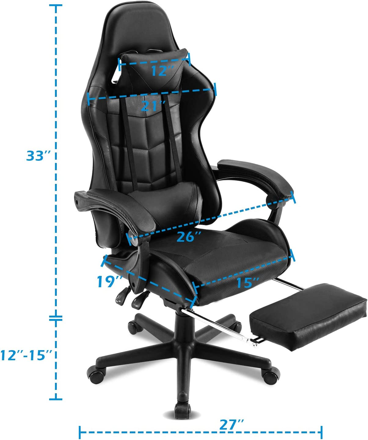 Matte Golden Soontrans Ergonomic Office Chair PC Gaming Chair Racing Chair for Gaming,Computer Chair,E-Sports Chair with High-Back,Adjustable Headrest and Lumbar Support,Retractable Footrest