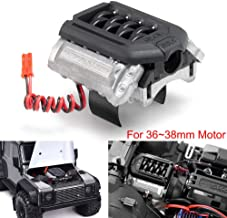 V8 Engine Radiator with Cooling Fan for 1:10 Crawlers for R/C Crawler Scale Accessories