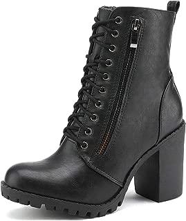 Best black heel combat boots Reviews