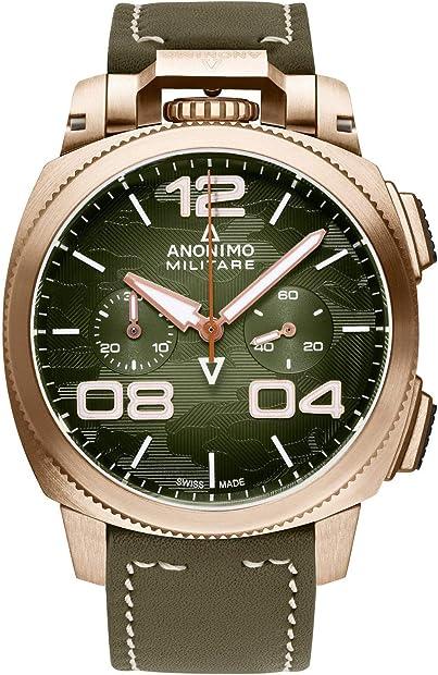 Anonimo militare orologio uomo analogico automatico con cinturino in pelle di vitello am112301002a05
