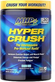 Maximum Human Performance MHP HYPER CRUSH Pre Workout energy drink, creatine, beta alanine, nitric oxide pump, citrulline,...