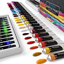 GOTIDEAL Acrylic Paint Set, Artist Grade 48 Colors/Tubes(23ml, 0.77 oz) Non Toxic Non Fading,Rich Pigments for Painters, Adults & Kids, Ideal for Canvas Wood Clay Fabric Ceramic Craft Supplies