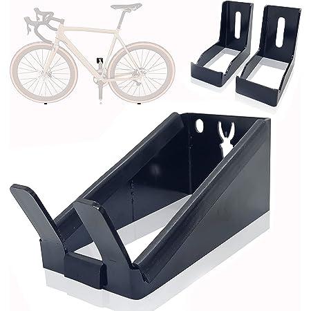 Supporto per bicicletta da parete a pedale, supporto orizzontale, compatibile con tutti i tipi di biciclette.