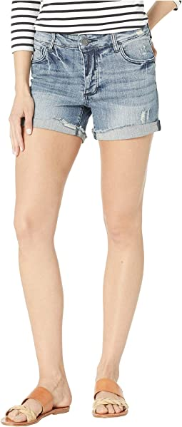Madeline Boyfriend Shorts in Commit w/ Medium Base Wash