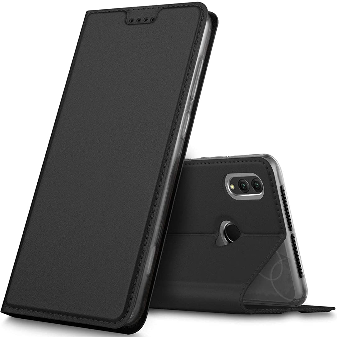 Honor Note 10 case, KuGi Huawei Honor Note 10 case, Ultra-Thin DD Style PU Cover + TPU Back Stand Case for Huawei Honor Note 10 Smartphone(Black)