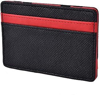 Slim Magic Wallet Leather Purse Small Wallets Carteira Magica Porte Monnaie ESU red