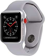 Apple Watch Series 3 (GPS + Cellular, 42MM) - Silver Aluminum Case with Fog Sport Band (Renewed)
