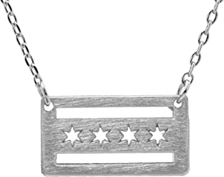 chicago flag pendant