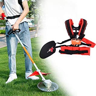 Trimmer Shoulder Strap, Universal Adjustable Trimmer Double Shoulder Strap Lawn Mower Waist Belt for Brush Cutter