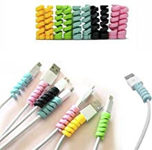 5 Pcs Spiral Tube Charging Cable Protector Wire Cord Organizer Protetor for Apple iPhone ipad iwatch Charging Cable