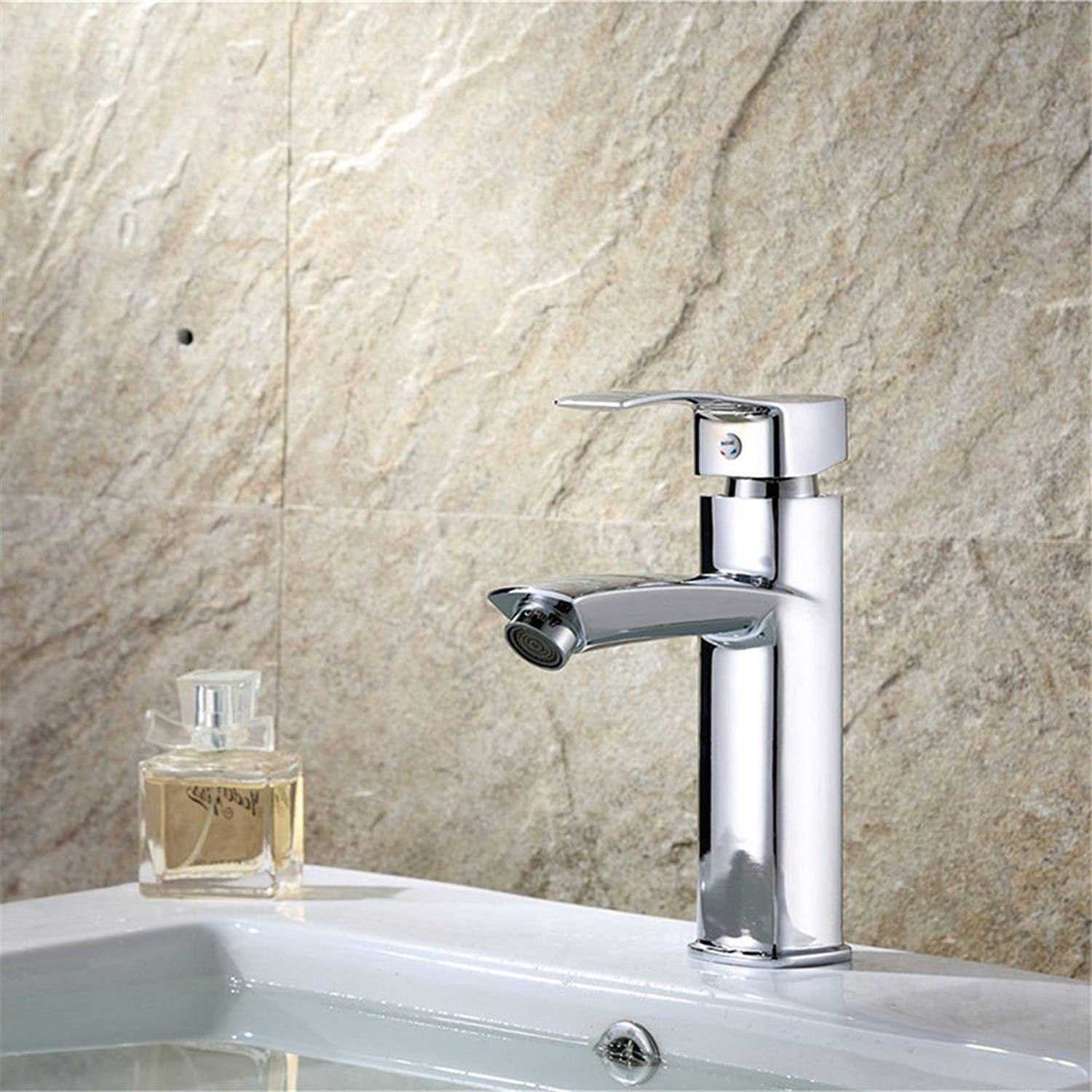 ETERNAL QUALITY Bathroom Sink Basin Tap Brass Mixer Tap Washroom Mixer Faucet Modern minimalist mix the water basin faucet single hole lowered basin mixer Kitchen Sink Ta