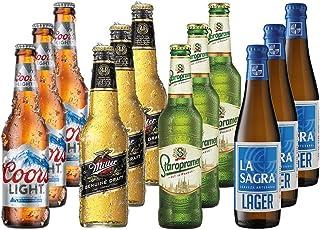 Lagers del Mundo Pack Degustación de Cerveza - 12 botellas x 330 ml - Total: 3960 ml