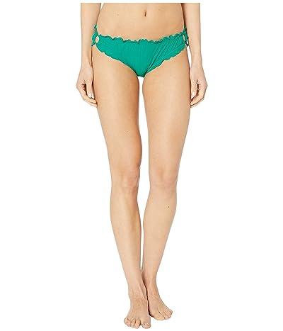 Kate Spade New York Solids Ruffle Edge Bikini Bottoms (Jade) Women