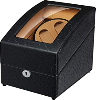 Maselex Double Watch Winder with 3 Storage Box Case, Quiet Mabuchi Motor for Automatic Watches