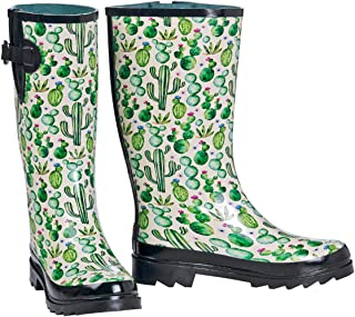 M&F Western Womens Cactus Print Rain Boots