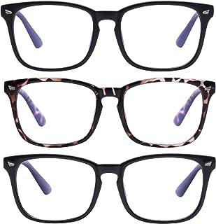 عینک های مسدود کننده نور آبی Unisex عینک های کامپیوتری فیلتر فیلتر آبی (خستگی چشم از بین بردن چشم) برای آقایان