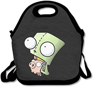 JUCHen Lunch Bag Invader Zim Gir S Doom Song Lunch Tote Lunch Box For Women Men Kids With Adjustable Strap