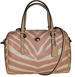 Peyton Zebra Bennet MINI Satchel Crossbody Bag Pink Tulle