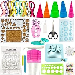 PRENKIN Papier Quilling Winding Disque avec 20pcs Aiguilles en Acier Bricolage Accessoires Handwork Papier Outil Artisanat